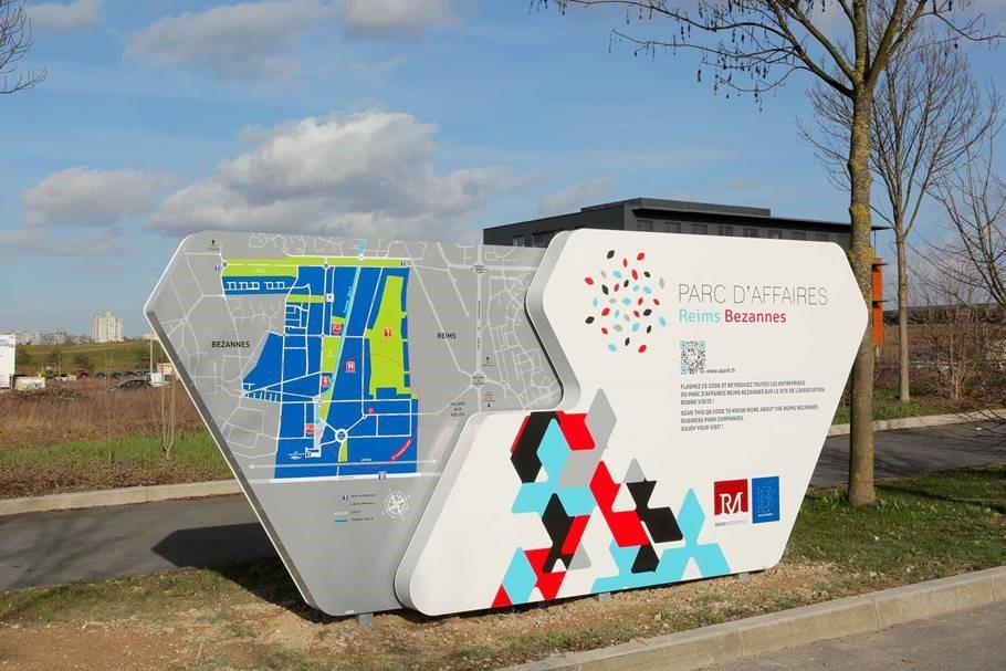 Signalétique au coeur du parc d'affaires Reims-Bezannes